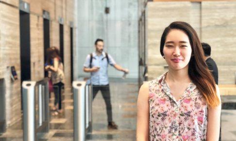 インターン生とシンガポールオフィス