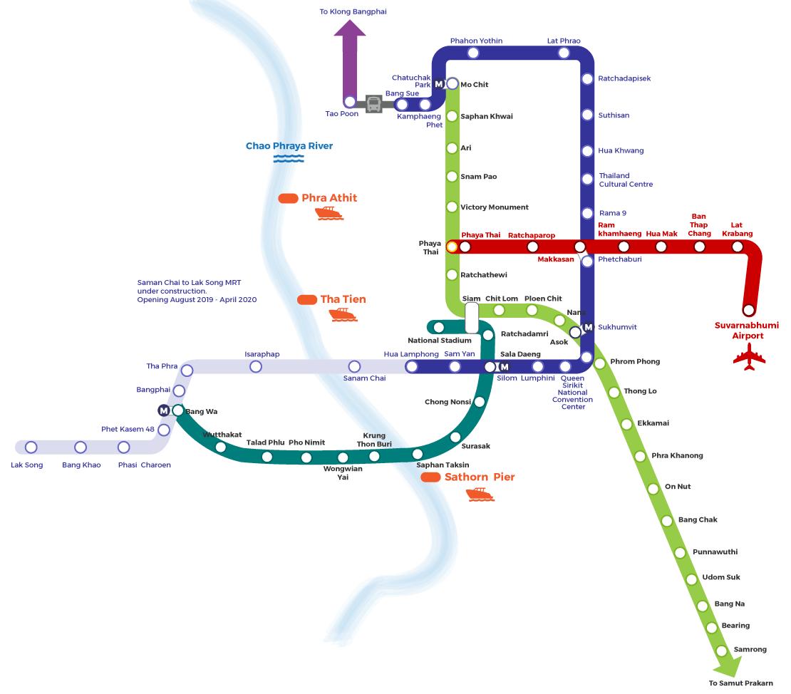 バンコク鉄道(BTS)マップ